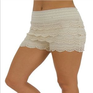 Pants - Casual or dress up beige knit shorts